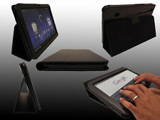 LuvTab Motorola Xoom BLACK Leather Stand Case Cover