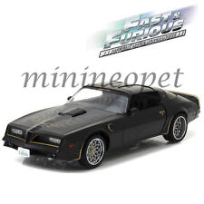 GREENLIGHT 19026 FAST & FURIOUS TEGO'S 1978 PONTIAC FIREBIRD TRANS AM 1/18 BLACK
