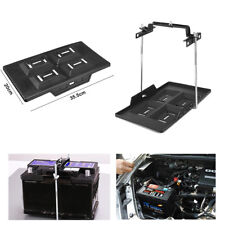 Universal Storage Battery Holder Adjustable Tray + Hold Down Clamp Bracket Kit