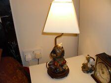 Vintage RARE CNINESE SHIWAN FISHERMAN TABLE LAMP