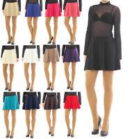 Swing Rock Mini Falten-Rock Gummibund hohe Taille Skirt Minirock