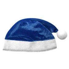 Adult Blue Plush Santa Hat ~ FUN XMAS, CHRISTMAS, HOLIDAY, COSTUME, PARTY HAT