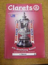 25/10/2014 Chelmsford City v Barnet [FA Cup] (folded, team change). Thanks for v