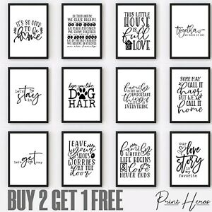 Living Room Wall Art Print Living Room Quotes  Pictures Lounge Decor Gift Funny