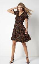 NWT Roman Black Ditsy Floral Dress- UK size 14