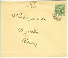 AUSTRIA/MAIL IN LEVANTE: Postal stationary Mi.U.11 Jerusalem to Switzerland 1913
