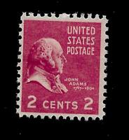 US 1938  Sc# 806  2 c  John Adams  Mint NH - Crisp Color