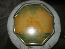 Loose Wiles Biscuit Company Sunshine Biscuits Sailboat Tin-Vintage 1930's