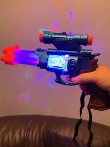 Space Warrior Star Wars Gun Automat Fun Toy For Kids Children Gift Lights &Sound