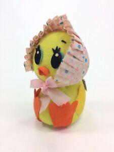 """Vintage 1974 Dakin Dream Pets Chick Duck Duckling w Bonnet Toy Stuffed Animal 5"""""""