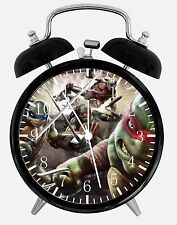 """Teenage Mutant Ninja Turtles Alarm Desk Clock 3.75"""" Home or Office Decor E36"""