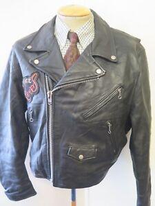 Vintage Levi Strauss Perfecto Leather Motorcycle Biker Jacket M 38-40 Euro 48-50