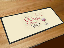 Wine O'clock quote bar runner home bar counter mat Pubs Clubs & Cocktail Bars