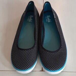 Keds polka dot slip on ballet sneaker flats Size 8.5