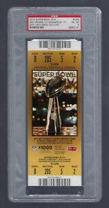 PSA EXMT 6 - VINTAGE 2010 NFL SUPER BOWL XLIV FULL TICKET SAINTS v COLTS - BREES