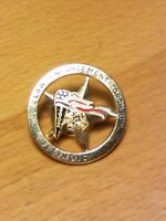 Vintage Illinois Law Enforcement Torch Run 2002 Lapel Pin Metal Marathon Circle