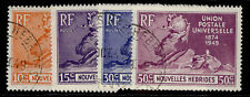 More details for new hebrides gvi sg f77-f80, anniversary of upu set, fine used. cat £50.
