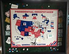 Unique 1970's Presidential Sweepstakes Board Game Mounted and Custom Framed