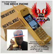 Kyle Rifkin's new gold 80's style Paid in full mobile phone (Factory Unlocked)