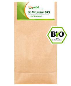 BIO Reisprotein 80% - 1 kg Vorratspack (20,95€/kg)