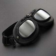 Vintage Retro Motorcycle Helmet Aviator Pilot Goggles Flying Glasses Eyewear