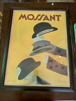 Mossant European Vintage Art Poster Framed by Leonetto Cappiello
