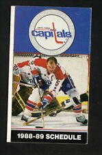 Washington Capitals & Bullets--Langway--Unseld-1988-89 Pocket Schedule-Bud Light