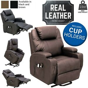 Dream Plus Electric Rise and Recline Chair Leather Riser Recliner Armchair