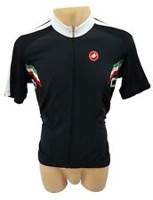 Castelli Prima Cycling Jersey FZ 2014 -Black/White - XL - Pulled Fabric