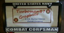 US NAVY COMBAT CORPSMAN license plate frame usn seals recon marsoc Annapolis