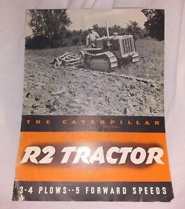 Original 1930s Caterpillar R2 Tractor Sales Brochure Beckwith Machinery Co PA