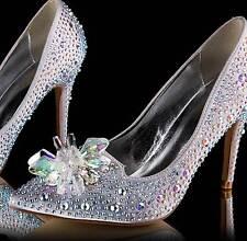Rhinestone Crystal Wedding Diamante Aurora Crystal Shoe Charm Clips Pair