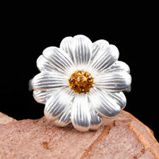 Wedding Rings Party Jewelry Size 7 Fashion Women Flower 925 Silver Ring Women