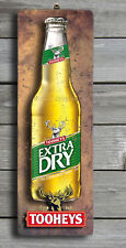 TOOHEYS EXTRA DRY 3D LOOK Rustic Wooden BAR Plaque / Sign (FREE POST) Stubby