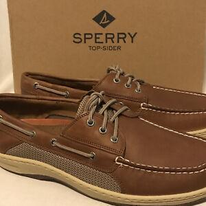 NEW Sperry Men's Size 11 WIDE Billfish 3 Eye Boat Shoe Dark Tan 799320