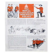 1964/67 GI Joe PAPERWORK FOR CANADIAN MOUNTIE by Palitoy/Hasbro ORIGINAL