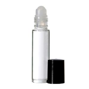 144 Bottles PLAIN 10 ml Clear Glass Perfume Oil Roll On Vial BLACK Cap & Roller