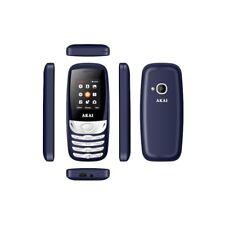 AKAI Telefono Cellulare semplice Dual Sim WHITE BLUE  TELEFONO ECONOMICO