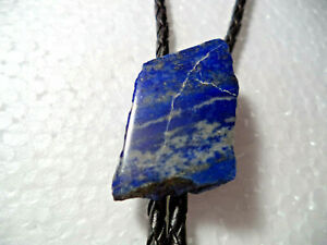 Natural   Lapis Lazuli Veteran made Gemstone Bola Bolo Tie Cord Tips