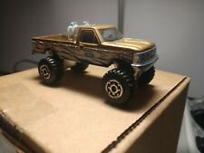 1993 Issue Matchbox Ford F-150 4x4 Pickup Truck Gold, blue & white