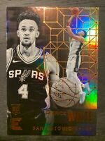 2017-18 Panini Essentials Derrick White RC Rookie Card #103 San Antonio Spurs