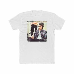 BOB DYLAN Highway 61 Revisited vintage style 60s T-shirt Unisex White Cotton Tee