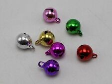 100 JINGLE BELLS~Christmas Mixed Colors~Beads Charms 8mm Decoration DIY Craft