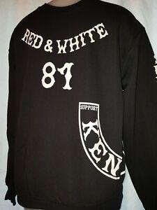 Support 81 Kent Hells Angels England Rocker Sweat Shirt Pullover Jumper - Black