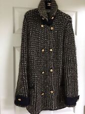 CHANEL 09A PARIS-MOSCOW TWEED NAVY GOLD IMPERIAL CC BUTTONS JACKET FR40 $7K