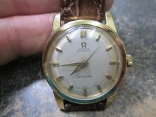 Omega AUTOMATIC SEAMASTER FANCY LUGS SOLID 18K GOLD MENS Running Wristwatch 501