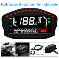 Motorrad LCD Digital Tachometer Drehzahlmesser Kilometerzähler Universal DC12V