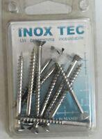 INOX TEC 10 viti per truciolari con testa piana svasata in acciaio 4,5x50 mm new