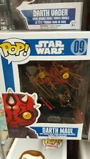 FUNKO STAR WARS POP VINYL DARTH MAUL SIGNED BY RAY PARK WITH COA