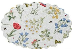 Park Designs Oval Wildflower Quilted Placemats   ~~Set of 2~~  NEW
